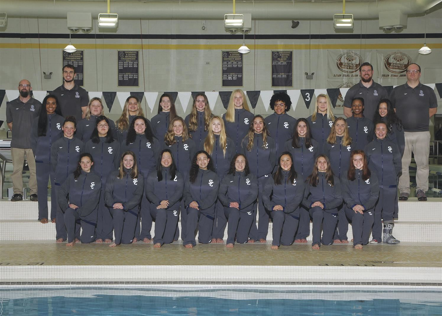 Girls Swimming / Diving - Sectional Champions