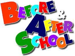 Before & After School in multi-colored letters