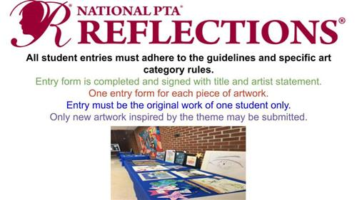 National PTA Reflections Reminder