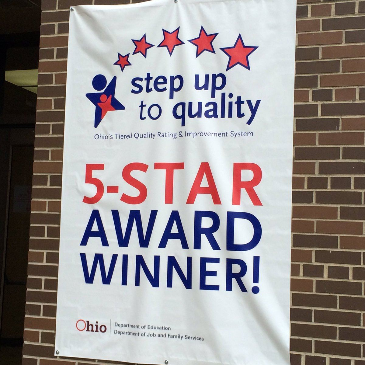 Banner reading 5 Star Step Up to Quality Award Winner