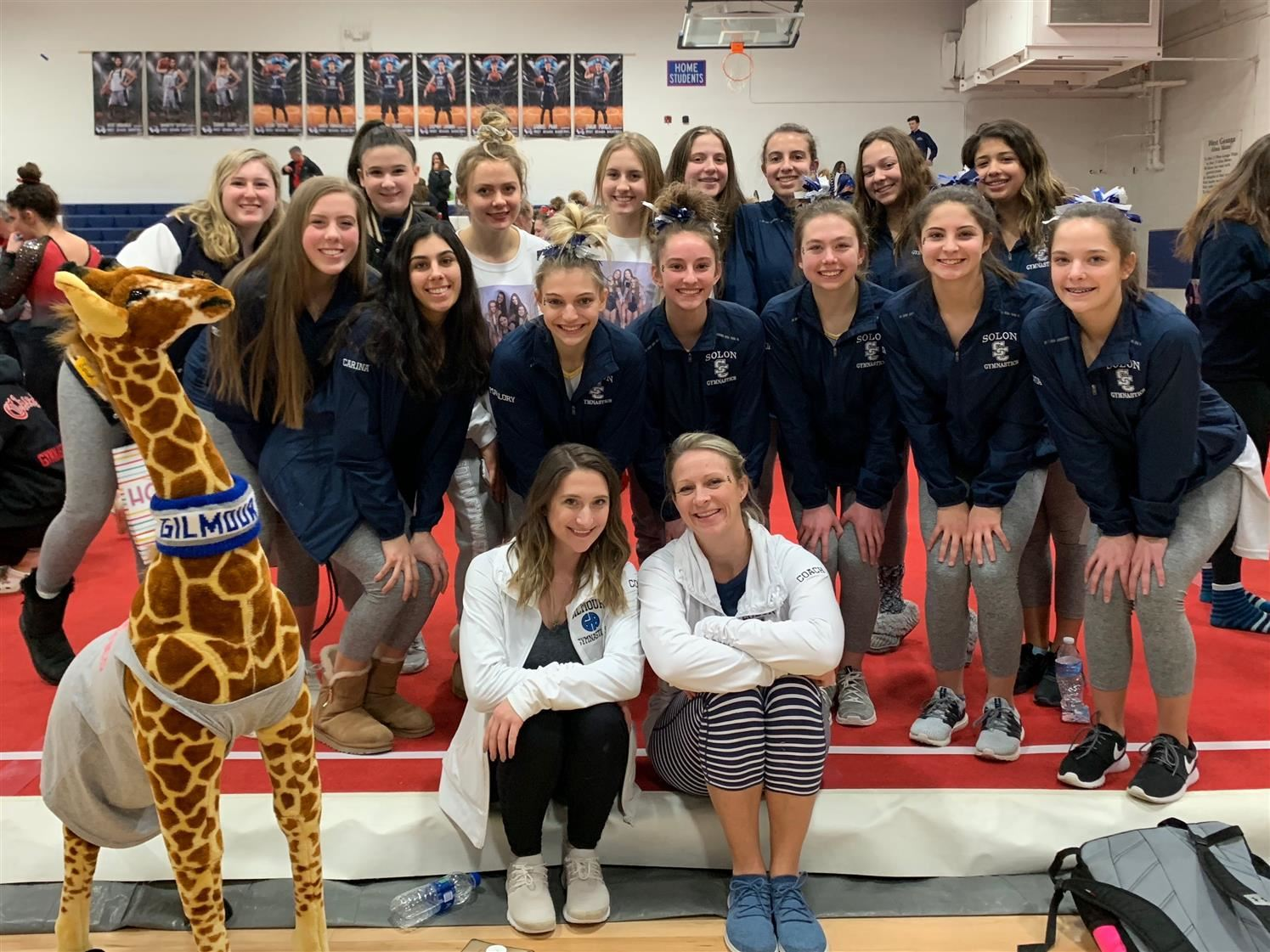 Gymnastics Team Qualifies for Districts!