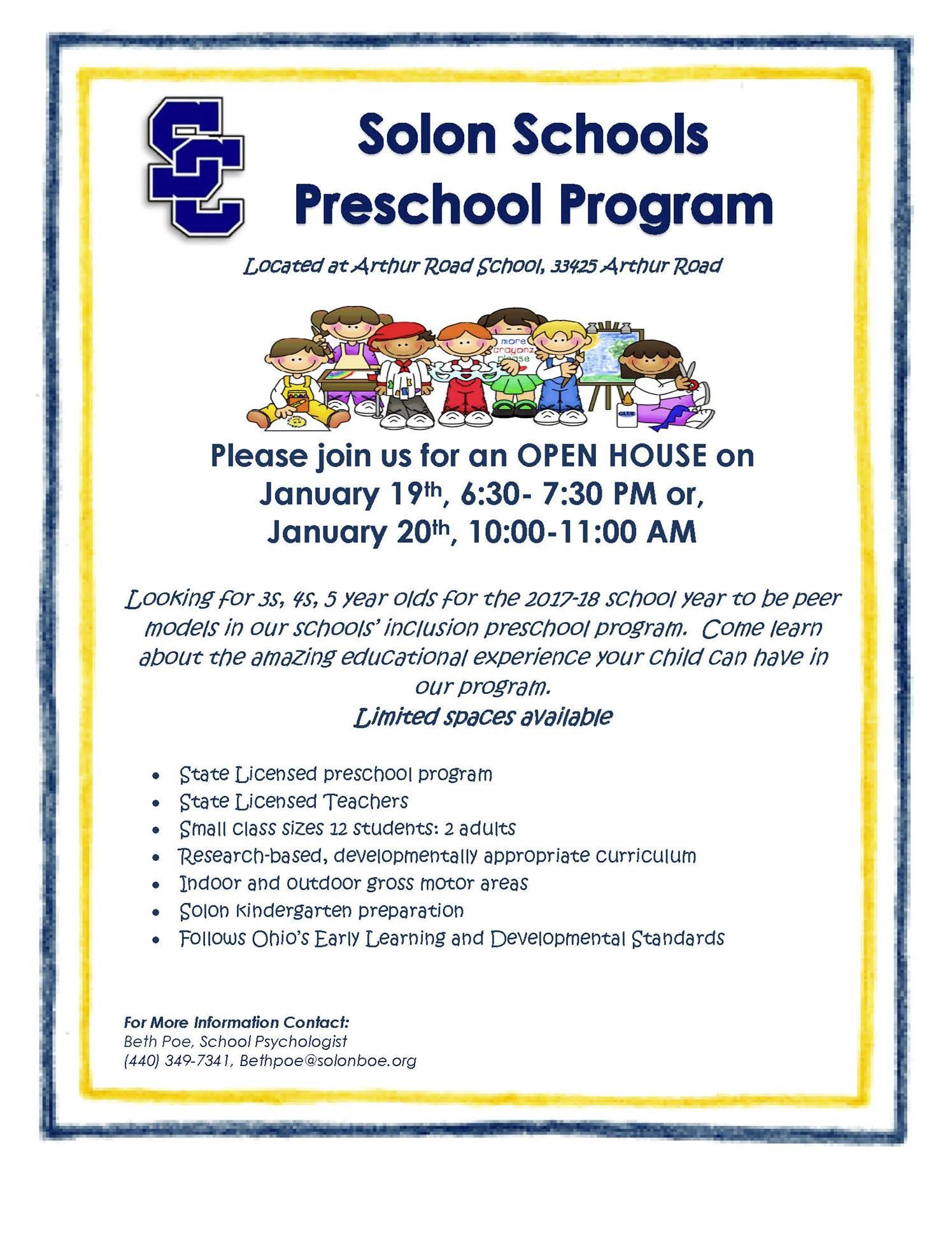 Preschool Peer Model flier 2017-18